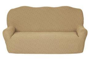 Чехол на 3х-местный диван без оборки , KAR 011-08 A.Bej