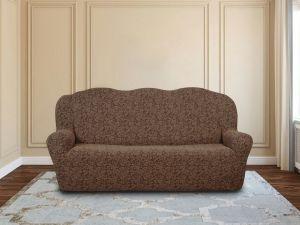 Чехол на 3х-местный диван без оборки ,KAR 002-05 A.Kahve