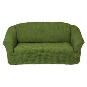 Чехол на 3х-местный диван без оборки ,зеленый