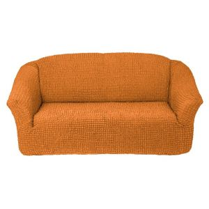 Чехол на 3х-местный диван без оборки,рыжий
