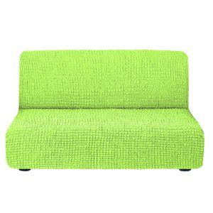 Чехол на диван без подлокотников салатовый