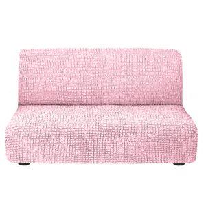 Чехол на диван без подлокотников Светло-розовый