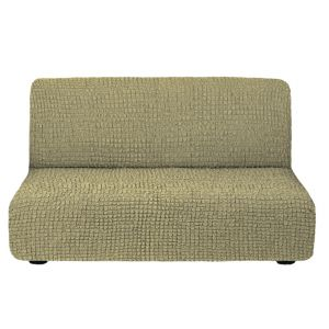 Чехол на диван без подлокотников темно-оливковый