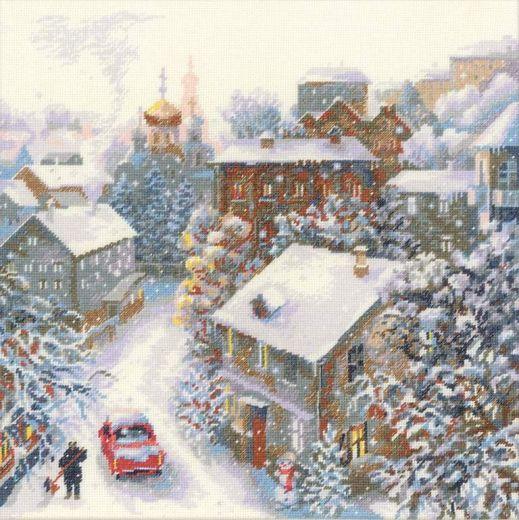 Набор для вышивания крестом Снежная зима №1678 фирма Риолис