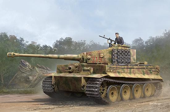 Танк  Pz.Kpfw.VI Ausf.E Sd.Kfz.181 Tiger I (Medium Production) w/ Zimmerit   (1:35)