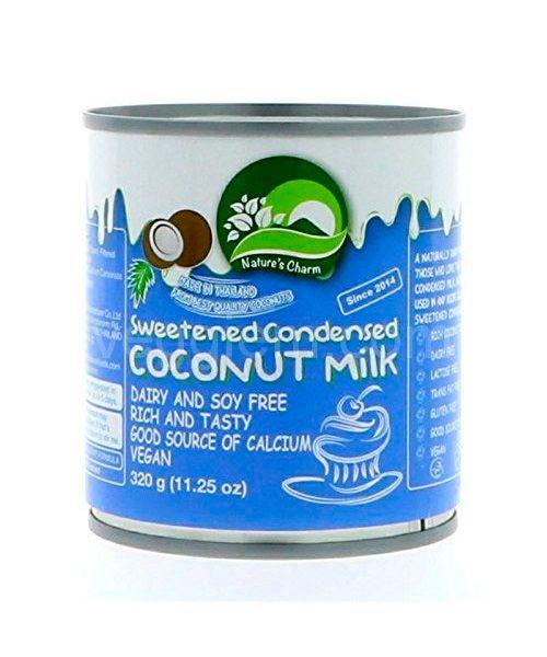 """Сгущенное молоко на кокосовых сливках веган """"Natures Charm"""",200 грамм"""