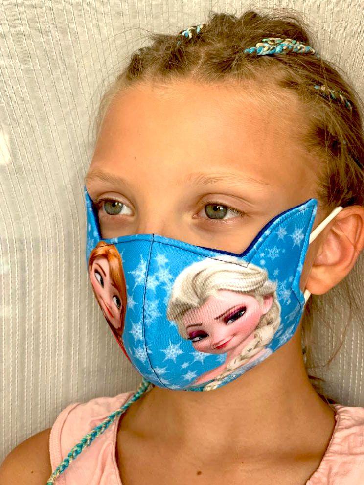 Детская трёхслойная маска Холодное сердце, на 5-8 лет (Москва)