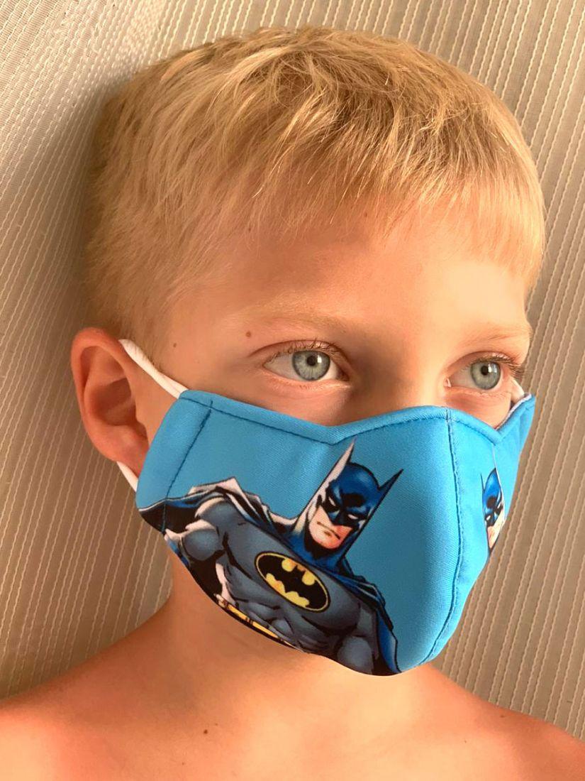 Детская трёхслойная маска для лица, Бэтмен, на 3-5 лет (Москва)