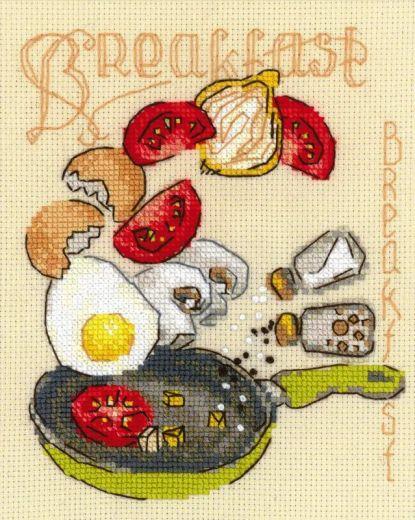 Набор для вышивания крестом Завтрак № 1684 фирма Риолис