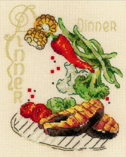 Набор для вышивания крестом Обед № 1686 фирма Риолис