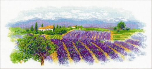 Набор для вышивания крестом Цветущий Прованс №1690 фирма Риолис