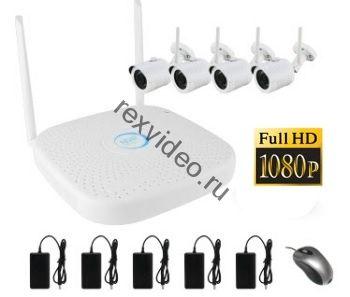 комплект 4 WiFi IP 2Mp камеры + WiFi NVR PX-KIT-PG420-20W