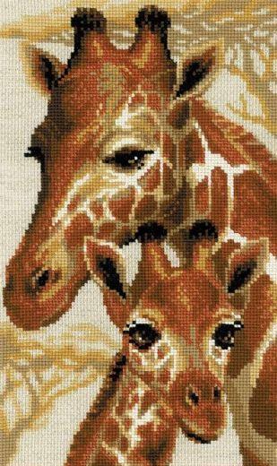 Набор для вышивания крестом Жирафы №1697 фирма Риолис
