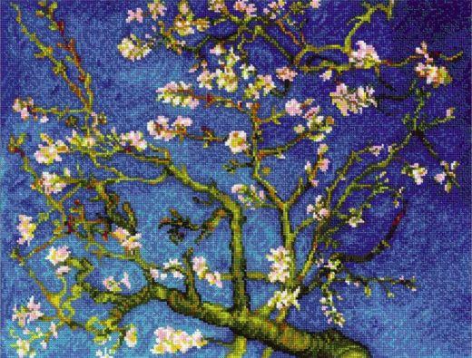 Набор для вышивания крестом Цветущий миндаль №1698 фирма Риолис