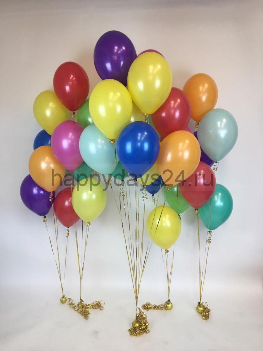 Фонтан из  10 шаров ассорти. ( диаметр шаров 27 см)