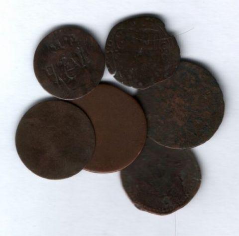 Набор старинных монет 7 шт.