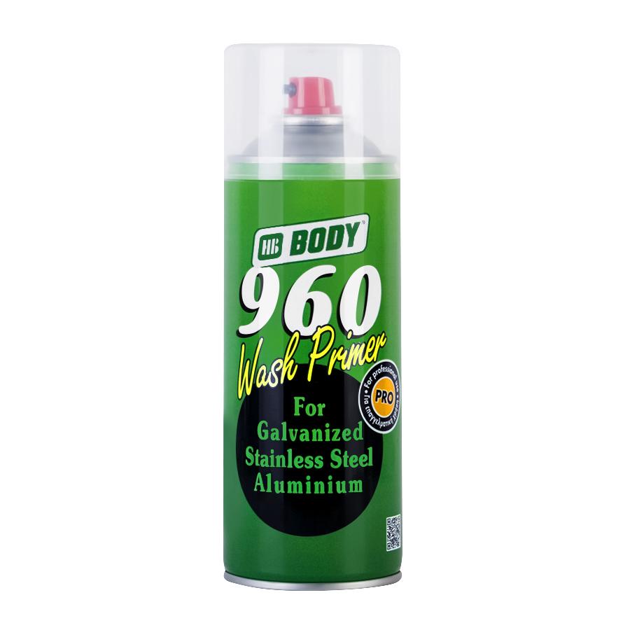 BODY 960 WASH PRIMER Аэрозольный грунт кислотный 0,4 л.