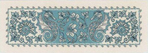 Набор для вышивания крестом Салфетка/Панно Морской конек №1703 фирма Риолис