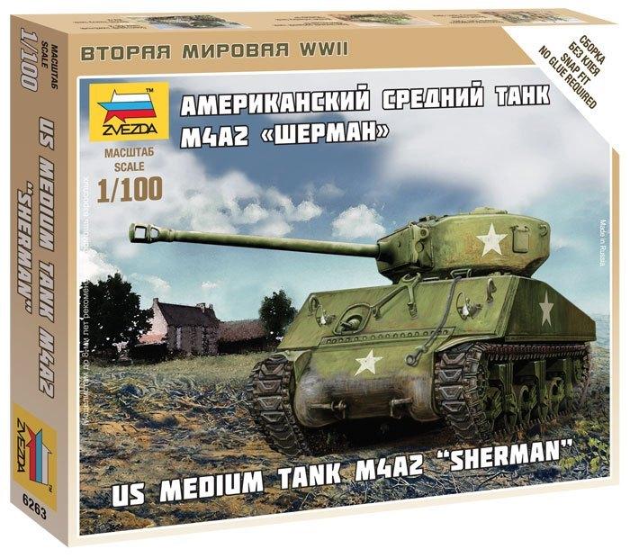 6263 Американский танк Шерман (1:100)