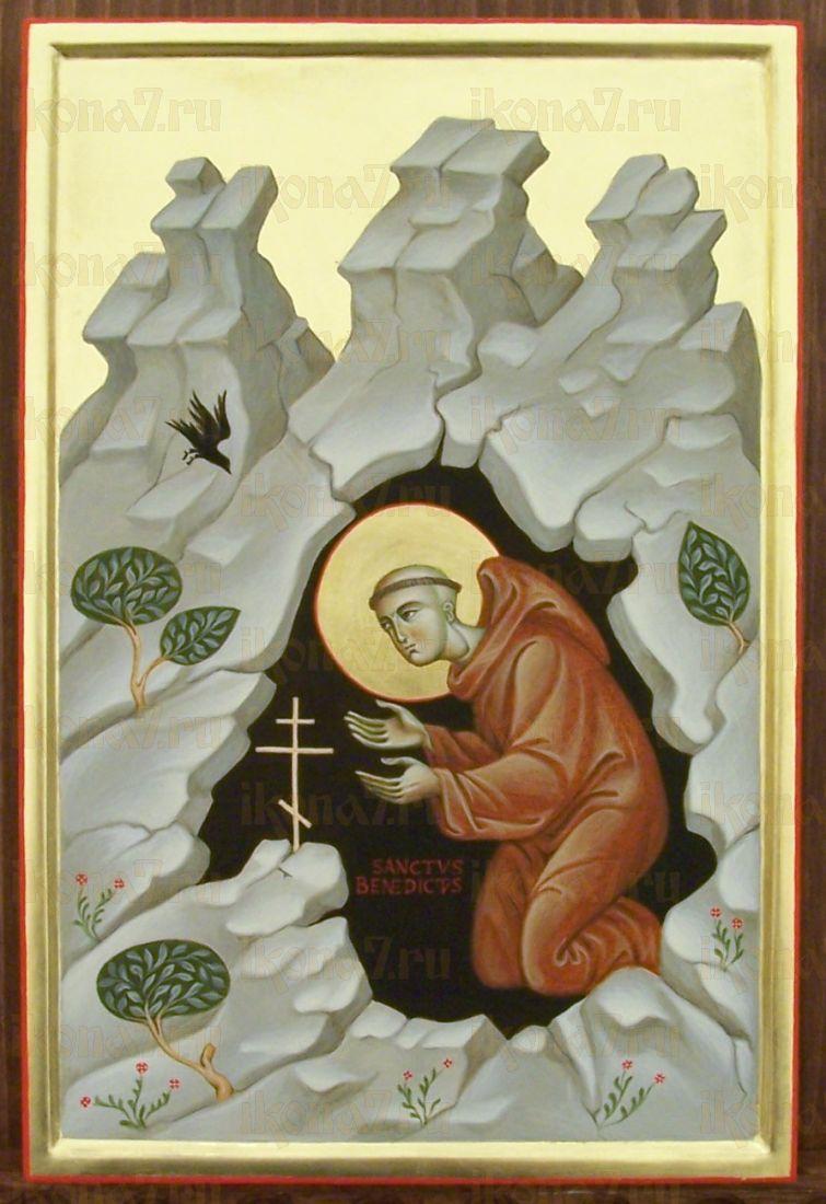 Икона Венедикт Нурсийский преподобный