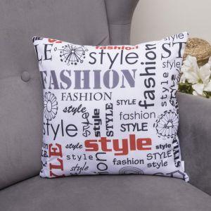 Подушка декоративная Модный стиль, 40х40см, габардин, синтетич. волокно, 160 гр/м