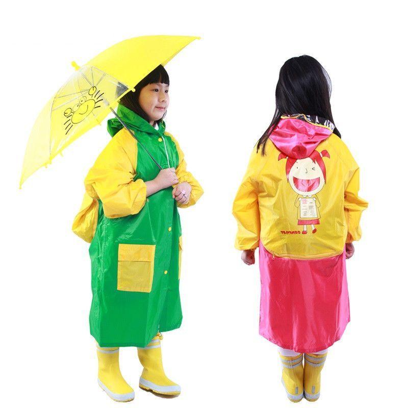 Виниловый плащ-дождевик для детей
