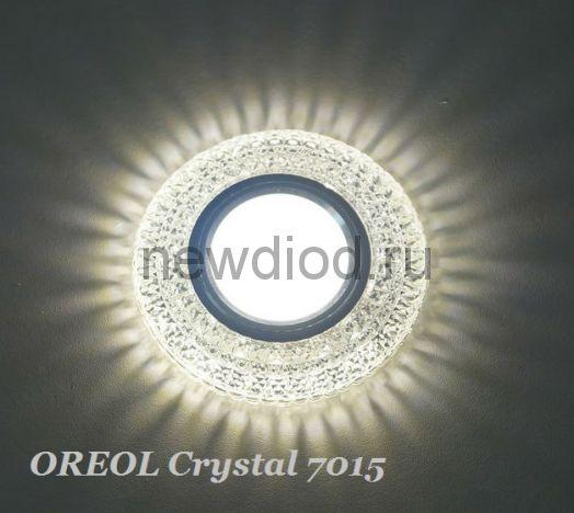 Точечный Светильник OREOL Crystal 7015 95/60mm Под Лампу MR16 Белый