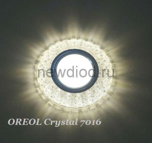 Точечный Светильник OREOL Crystal 7016 96/60mm Под Лампу MR16 Белый