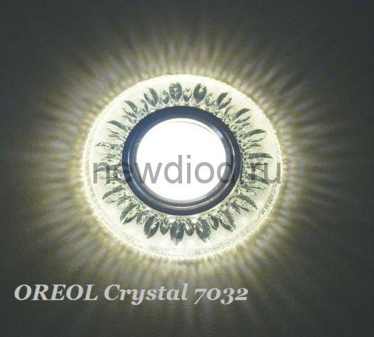 Точечный Светильник OREOL Crystal 7032 98/60mm Под Лампу MR16 Белый