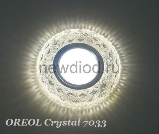 Точечный Светильник OREOL Crystal 7033 95/60mm Под Лампу MR16 Белый