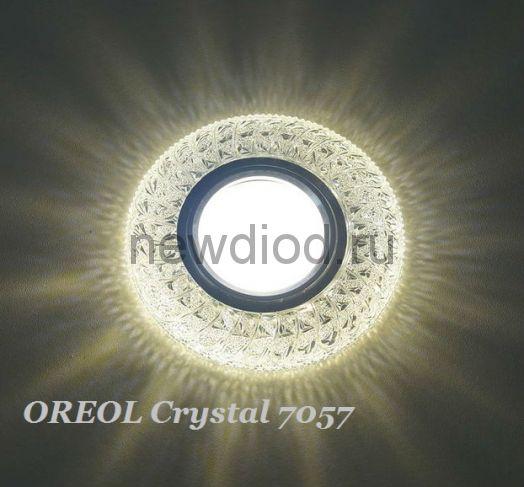 Точечный Светильник OREOL Crystal 7057 97/60mm Под Лампу MR16 Белый