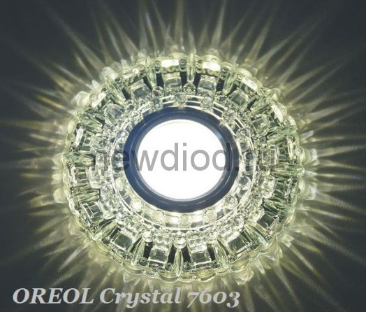 Точечный Светильник OREOL Crystal 7603 128/60mm Под Лампу MR16 Белый