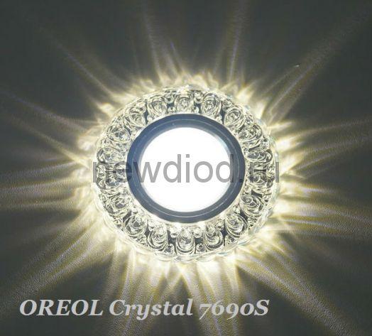 Точечный Светильник OREOL Crystal 7690S 96/60mm Под Лампу MR16 Белый