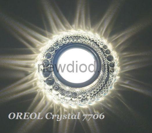 Точечный Светильник OREOL Crystal 7706 100/60mm Под Лампу MR16 Белый