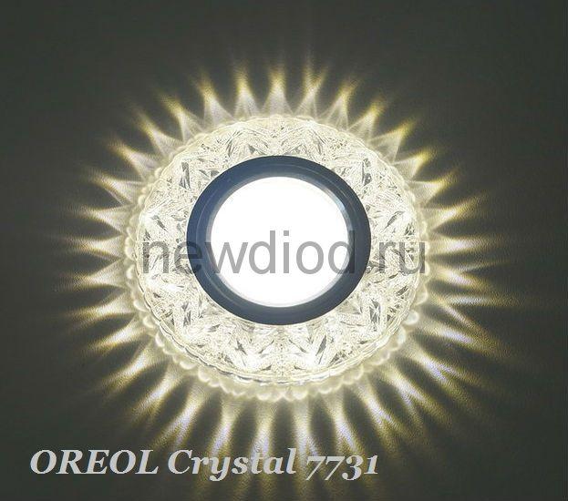 Точечный Светильник OREOL Crystal 7731 95/60mm Под Лампу MR16 Белый