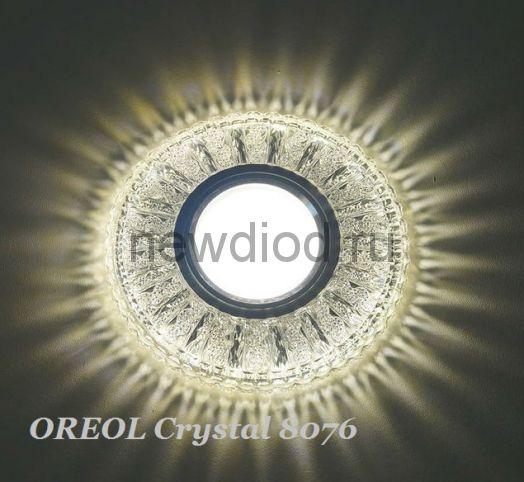 Точечный Светильник OREOL Crystal 8076 112/60mm Под Лампу MR16 Белый