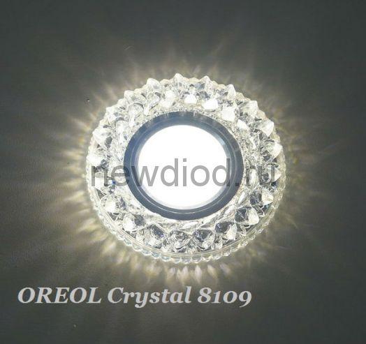 Точечный Светильник OREOL Crystal 8109 98/60mm под лампу MR16 Белый