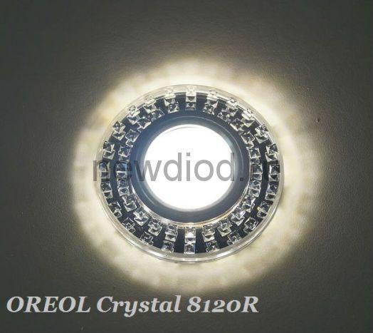Точечный Светильник OREOL Crystal 8120R 90/60mm Под Лампу MR16 Белый