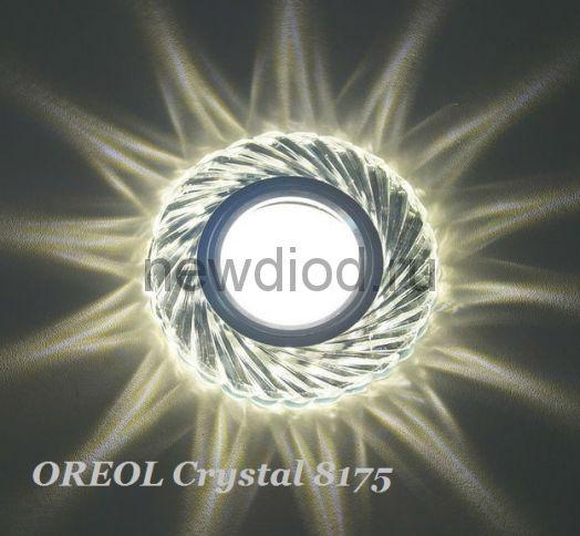 Точечный Светильник OREOL Crystal 8175 95/60mm Под Лампу MR16 Белый