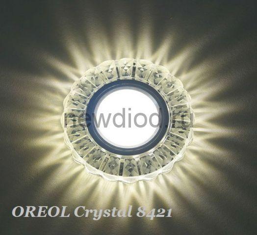 Точечный Светильник OREOL Crystal 8421 96/60mm Под Лампу MR16 Белый