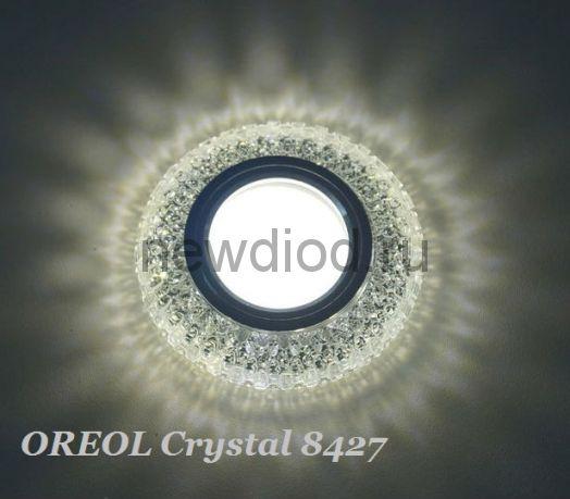 Точечный Светильник OREOL Crystal 8427 95/60mm Под Лампу MR16 Белый