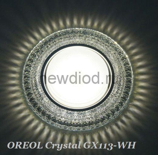 Точечный Светильник OREOL Crystal GX113-WH 128/85mm под лампу GX53 H4 Белый