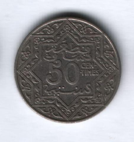 50 сантимов 1921 года Марокко XF
