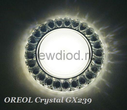 Точечный Светильник OREOL Crystal GX239 120/80mm Под Лампу GХ53 H4 Белый