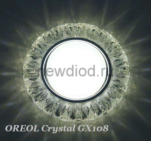Точечный Светильник OREOL Crystal GX108 125/80mm Под Лампу GХ53 H4 Белый