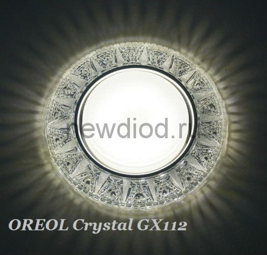 Светильник Точечный OREOL Crystal GX112-WH 125/80mm под лампу GX53 H4 Белый