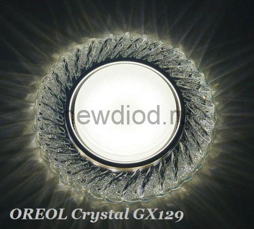 Точечный Светильник OREOL Crystal GX129 130/80mm Под Лампу GX53 H4 Белый