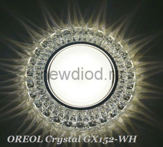 Точечный Светильник OREOL Crystal GX152 129/85mm под лампу GX53 H4 Белый