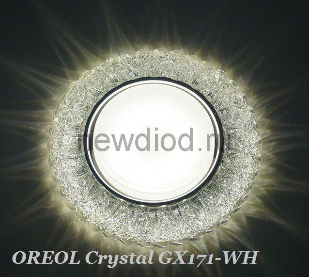 Точечный Светильник OREOL Crystal GX171 123/80mm Под Лампу GХ53 H4 Белый