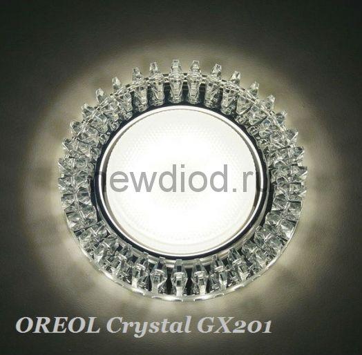 Точечный Светильник OREOL Crystal GX201 120/80mm Под Лампу GХ53 H4 Белый